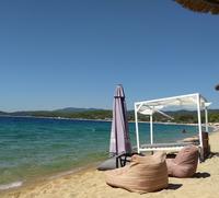 Пляж Торони в сентябре