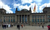 Знаменитое здание Рейхстага в Берлине