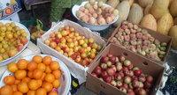 Фруктовый рынок Абхазии в августе
