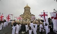 Собор Самеба в Тбилиси на Рождество