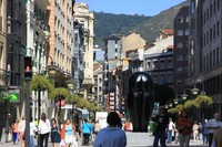 Испания, на улицах курорта Астурии