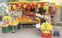 Сплошные вкусные лимоны на рынках Сардинии