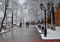Вот такая погода стоит в Нижнем Новгороде в декабре