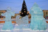 Предновогодние улицы Хабаровска в декабре