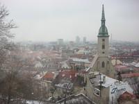 Вот такая хмурая погода в декабре в Братиславе