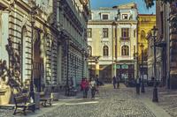Городская улица Румынии в марте