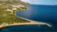 Хорватский пляж Златни-Рат до и после шторма