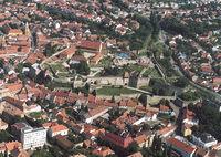 Панорама крепости и центра Эгера