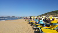 На пляже Burc, Стамбул