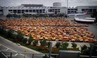 стоянка таксистов у аэропорта в Майями, Флорида