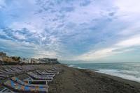 Андалусия: на пляже Ла-Кариуэла в вечернее время