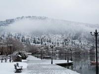 Афины под снегом
