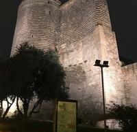 Девичья башня вечером. Старый Баку.