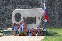 Памятник адмиралу Ушакову на Корфу, ноябрь 2018