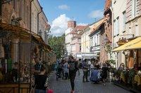 Вильнюс: вот такие загруженные улицы тут в мае