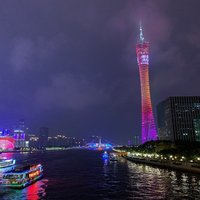 Кантонская башня в январе