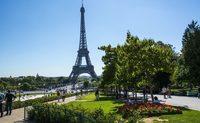 Вот так красиво и зелено в Париже в августе