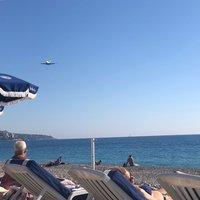 Октябрь на пляже Ниццы