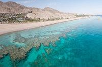 Пляж с коралловым рифом в Эйлате