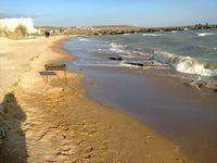 Пляж в Одессе в марте