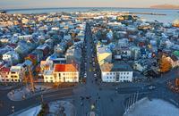 Вид на Рейкьявик с самой высокой точки города