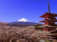 Гора Фудзи и храм