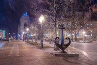 Ночная Одесса в январе