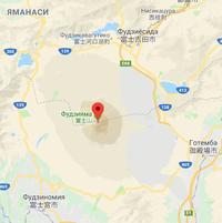 Фудзияма на карте