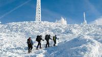 альпинисты на горе Вашингтон