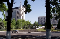 И даже в центре Ташкента в дневное время малолюдно!