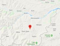Расположение горы на карте