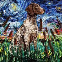 Американка рисует чудесные картины про собак в стиле Ван Гога