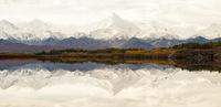 Завораживающий вид на хребет Аляски