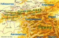 Памиро-Алай на карте