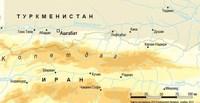 Копетдаг расположен в Туркмении и Иране