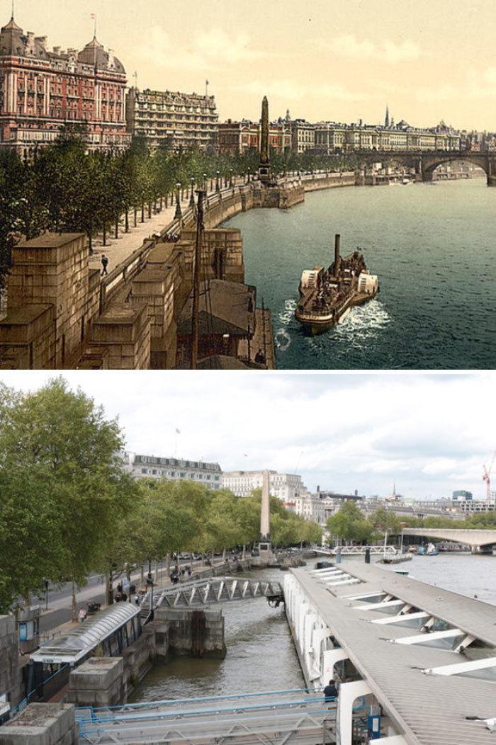 Англия тогда и сейчас: 7 фотосравнений, показывающих, как изменились города за 125 лет