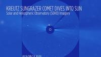 Столкновение кометы с Солнцем попало на видео