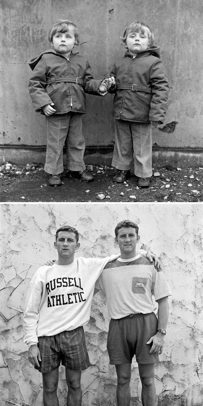 Фотограф переснял уличные портреты людей, которых он уже фотографировал 25 лет назад