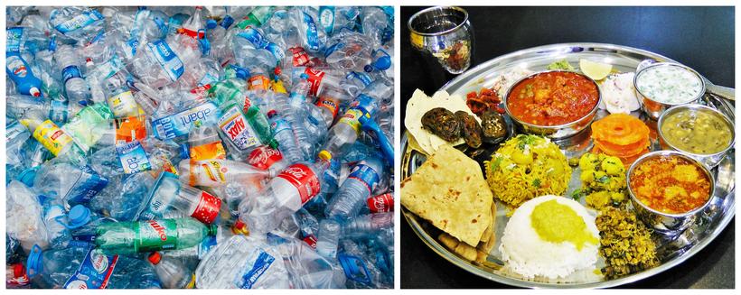 Необычное кафе: в Индии предлагают еду в обмен на пластиковый мусор