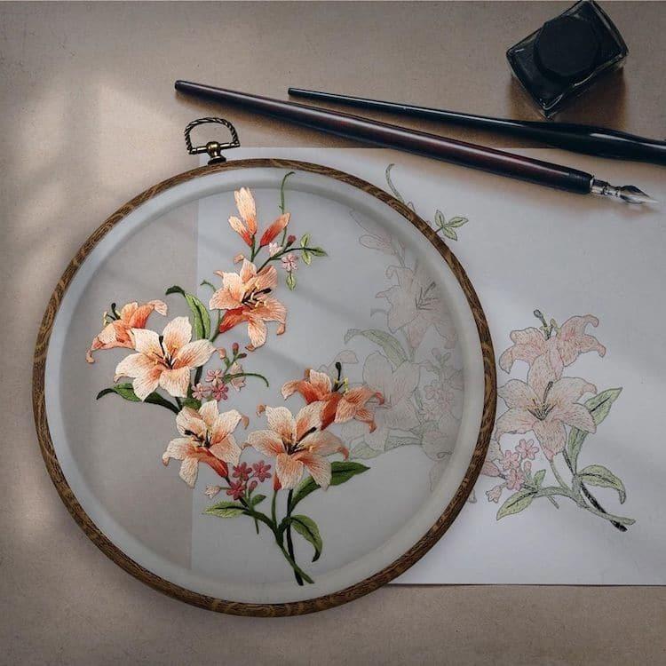 Китайские художники создают невероятную шелковую вышивку в традиционной технике