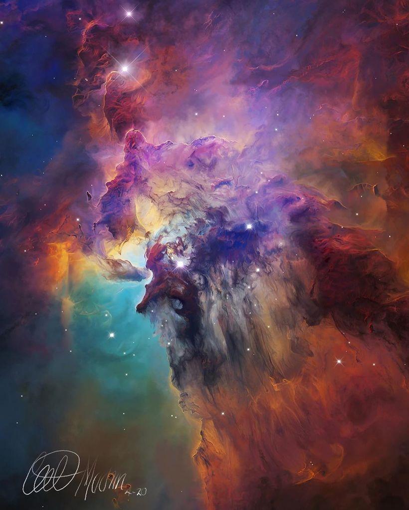 Гигантские картины нашей ослепительной галактики, которые светятся в темноте
